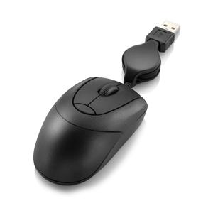 Mini Retrátil USB Preto MO048