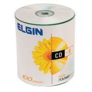 CD-R Elgin C/ Logo branco 100 Unidades