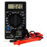 Multímetro Digital Profissional Com Cabo - Multilaser Au325