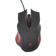Mouse Gamer C3Tech USB BUZZARD MG-110BK Preto e Vermelho