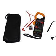 Alicate Amperímetro c/ Multímetro GC-266 Laranja e Preto