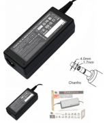 Fonte de Alimentação Notebook 19.5V 3.34A Dell e HP mini Plug 4.0x1.7mm conector chanfrado