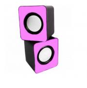 Mini Alto Falante Caixa de Som Rosa USB 3W RMS KP-609