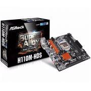 Placa Mãe ASRock H110M-HDS LGA 1151 Intel H110 HDMI SATA 6Gb/s USB 3.0 Micro ATX Intel