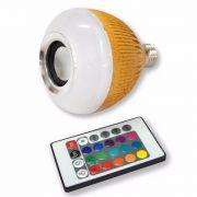Lampada de Led Caixa de Som C/ Bluetooth e Controle Remoto WJ-L2