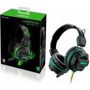 Fone de Ouvido Headphone Multilaser Gamer Green Led Light Verde - PH143