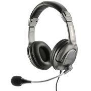 Fone de Ouvido Headset Flexível Multilaser USB PH043 - Cinza