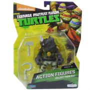 Boneco Colecionável Tartarugas Ninja Rocksteady Multilaser Multikids BR118