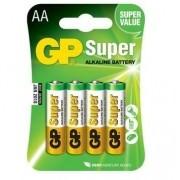 Blister C/ 4 Pilhas Super Alcalina AA 15A-C4 GP