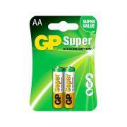 Blister 2 Pilhas GP Super GP15A-2U2 Alkaline AA LR6 1.5v