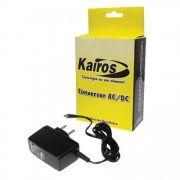Fonte Kairos P/ Roteador Wireless e Modem D-Link 2640B 12V 1A RMD1210