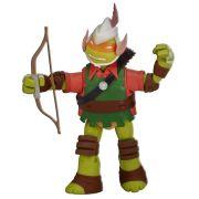 Boneco Figura de Ação Colecionável Tartarugas Ninja Michelangelo Mikey The Elf 12CM BR030 Multilaser