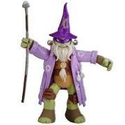Boneco Figura de Ação Colecionável Tartarugas Ninja Donatello Wizard 12CM BR030 Multilaser