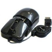 Mouse A4Tech 1000 dpi USB Retrátil G-Laser Botão duplo clique 2x X6-66E
