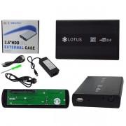 Case Gaveta p/ HD externo 3,5 USB 2.0 c/ fonte