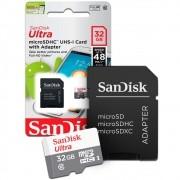 Cartão de Memória SanDisk Micro SD 32GB Ultra Classe 10 48MB/s SDSQUNB-032G-GN3MA