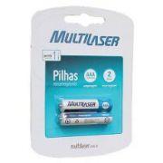 Blister C/ 2 Pilhas Recarregáveis Multilaser AAA 1000MAH CB051