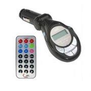Transmissor Modulador Wireless Via FM Entradas USB SD P2 C/ Controle remoto