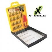 Kit de Chaves 32 em 1 X-Cell XC-K6032B P/ Manunteção de Celular e Tablet