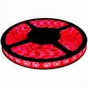 Fita de LED Vermelha Rolo 5 Metros  + Fonte 12V