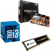 Kit Placa Mãe IPMH110 1151 + Processador Intel Core I3 7100 + 4gb Ram DDR4 2133MHZ Corsair