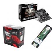 Kit Placa Mãe Asrock FM2A55MHD+ + Processador AMD A10 7860k Quad Core + 4GB Ram DDR3