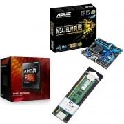 Kit Placa Mãe Asus M5A78L-M PLUS/USB3 + Processador AMD FX 6300 Six Core + 4GB Ram DDR3