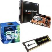 Kit Placa Mãe IPMH110 1151 + Processador Intel Core I5 7400 + 4gb Ram DDR4 2133MHZ Corsair
