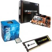Kit Placa Mãe IPMH110 1151 + Processador Intel Pentium G4400 + 4gb Ram DDR4 2133MHZ Corsair