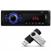 MP3 Player Automotivo Mirage P3323M USB SD AUX FM RCA + Pen Drive 4GB