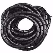 Organizador de cabos espiral preto com 12mm de diâmetro 10 metros - OCP1210P