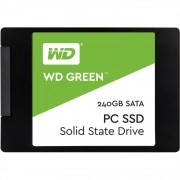 SSD WD Green 2.5´ 240GB SATA III 6Gb/s Leituras: 540MB/s e Gravações: 465MB/s - WDS240G1G0A