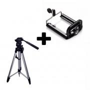 Tripé Telescópico Profissional Stc-360 - Até 1,60mts p/ Celular e Câmera