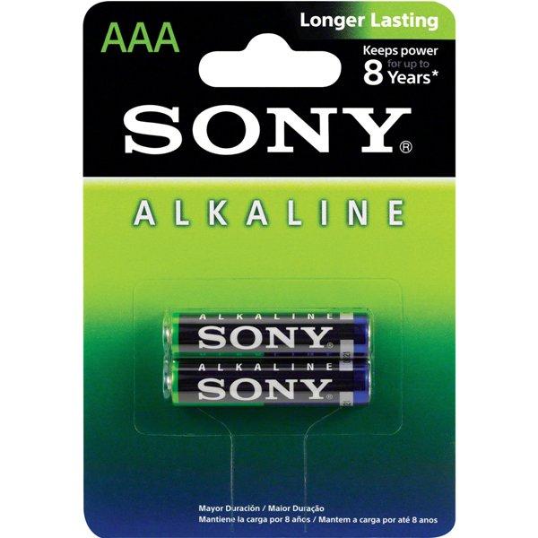 Pilha Alcalina Palito AAA Sony C/ 2 Unidades