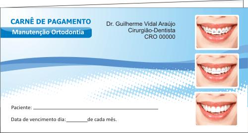 CAPA Carnê de Pagamento - Ref. 1301  - Odonto Impress