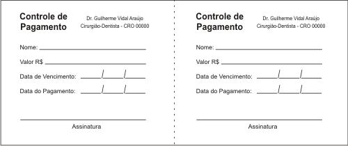 FOLHAS INTERNAS do Carnê de Pagamento- Ref. 1351