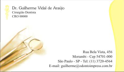 Cartão de Visita Premium - Ref. 1922  - Odonto Impress