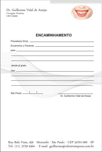 Bloco Encaminhamento Paciente ORTODONTIA - Ref. 3472