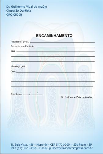 Bloco Encaminhamento Paciente - Ref. 3451