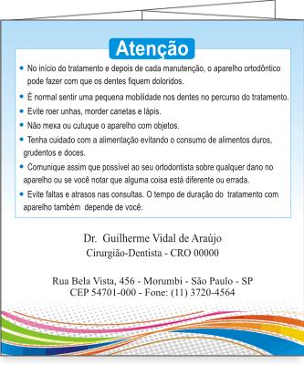 Folder GUIA ORTODÔNTICO - Ref. 2202  - Odonto Impress