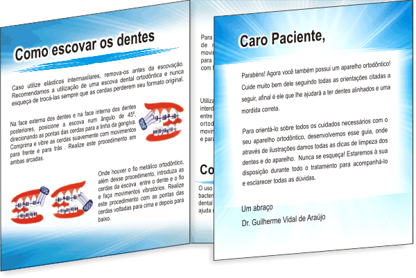 Folder GUIA ORTODÔNTICO - Ref. 2204  - Odonto Impress