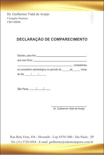 Declaração de Comparecimento - Ref. 3512