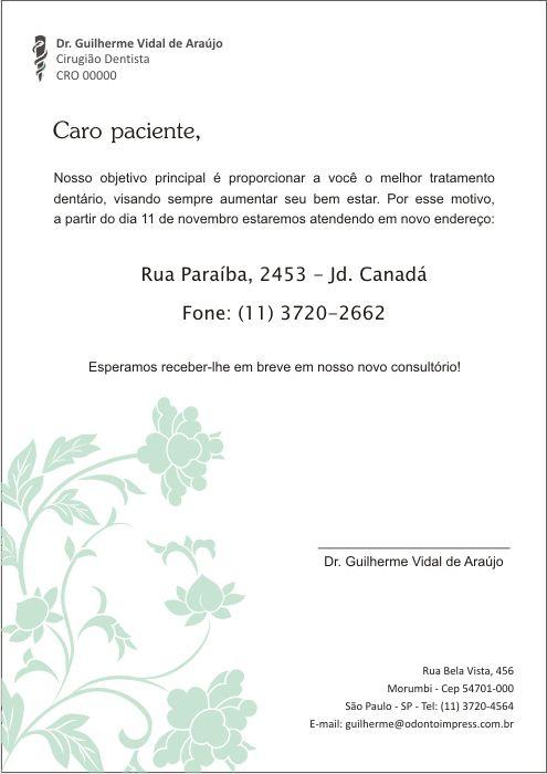 Carta Mudança de Endereço - Ref. 3600
