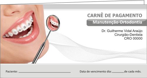 CAPA Carnê de Pagamento - Ref. 1304  - Odonto Impress