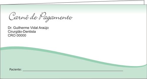 CAPA Carnê de Pagamento - Ref. 1305  - Odonto Impress