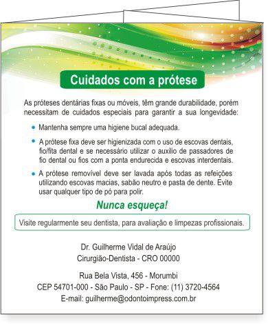 Folder PRÓTESE DENTÁRIA - Ref. 2096  - Odonto Impress