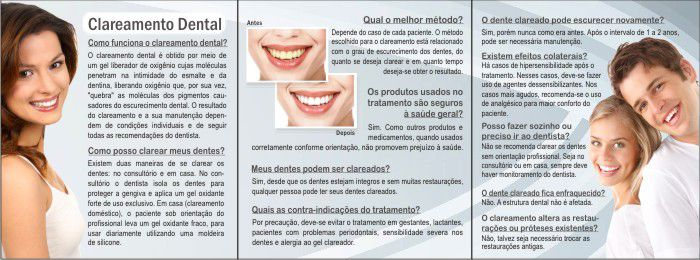 Folder CLAREAMENTO DENTAL - Ref. 3152  - Odonto Impress