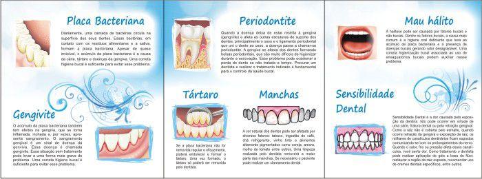 Folder Principais Problemas Bucais - Ref. 3101  - Odonto Impress