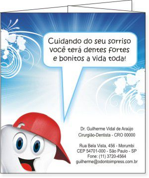 Folder SAÚDE BUCAL PEDIATRIA - Ref. 2206  - Odonto Impress