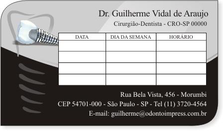Cartão de Retorno Slice IMPLANTODONTIA - Ref. 3676